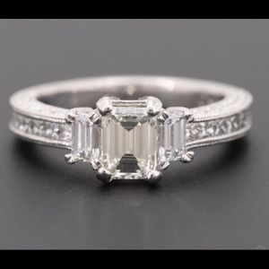 Jewelry - Platinum 1.85 CTW Emerald cut diamond ring
